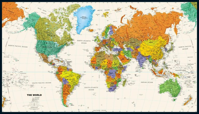 Unique World Map Styles From MapTrove's Collection