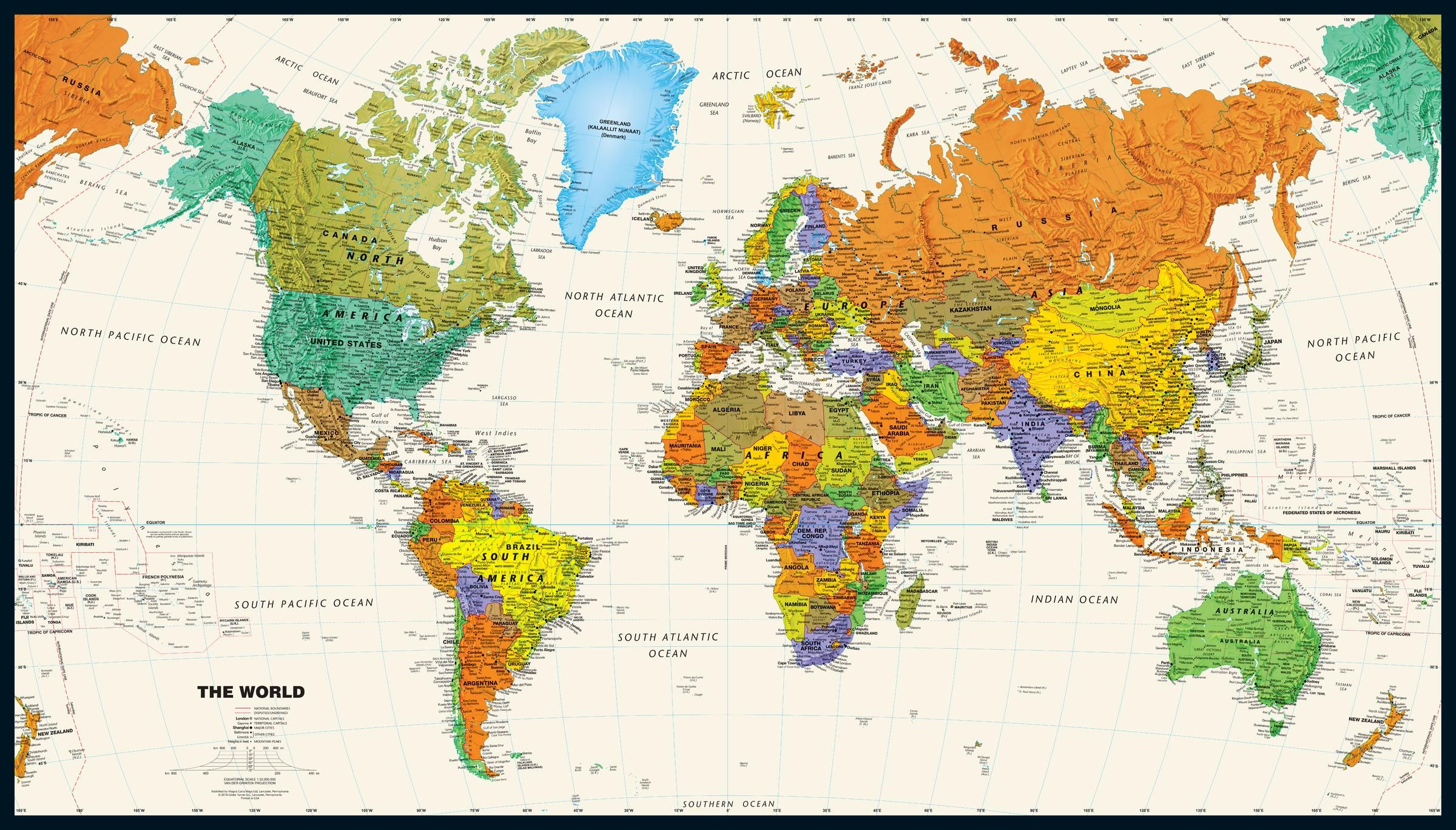 Different types of world maps - MapTrove on