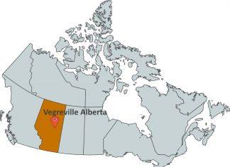 Where is Vegreville Alberta?
