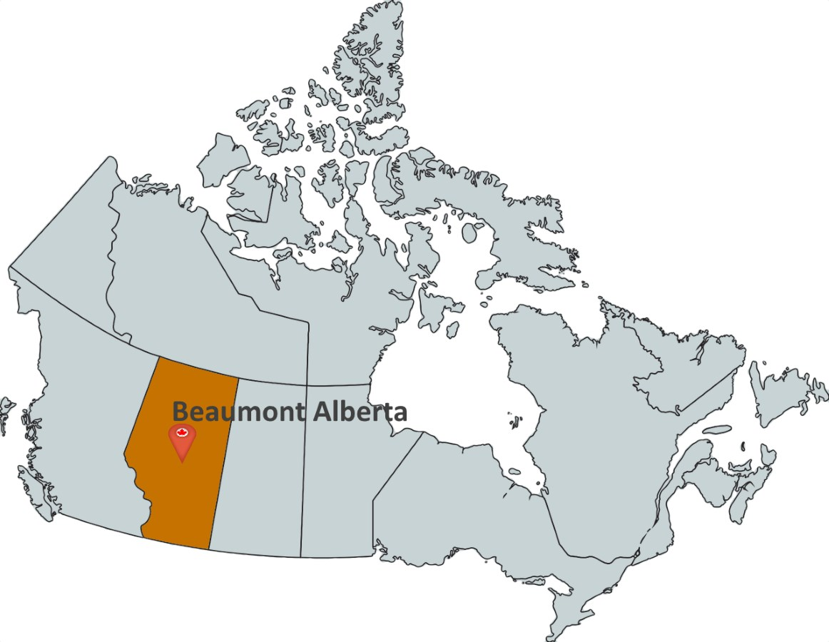 Map Of Beaumont Alberta Canada Where is Beaumont Alberta?   MapTrove