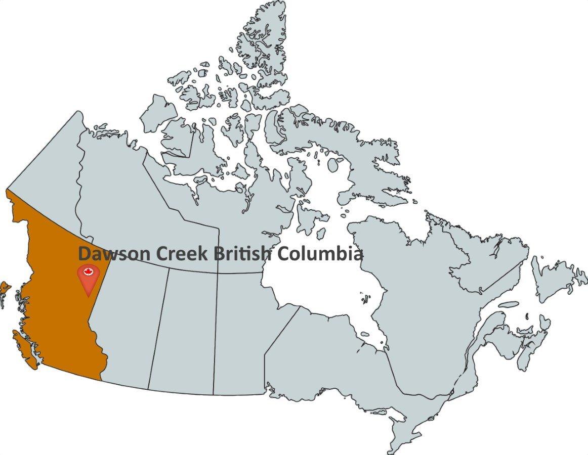 Dawson Creek Canada Map Where is Dawson Creek British Columbia?   MapTrove