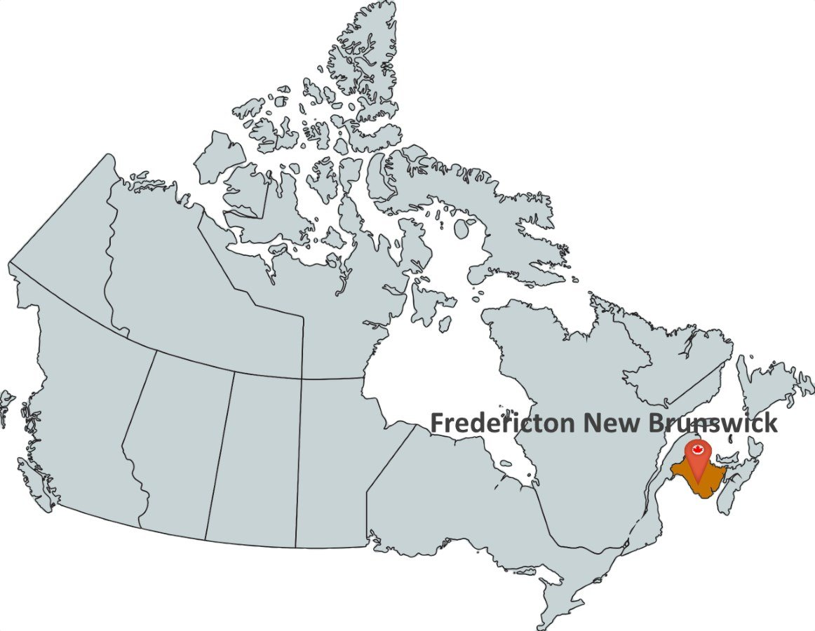 Where Is Fredericton In Canada On The Map Where is Fredericton New Brunswick?   MapTrove