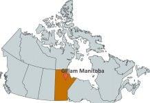 Where is Gillam Manitoba?