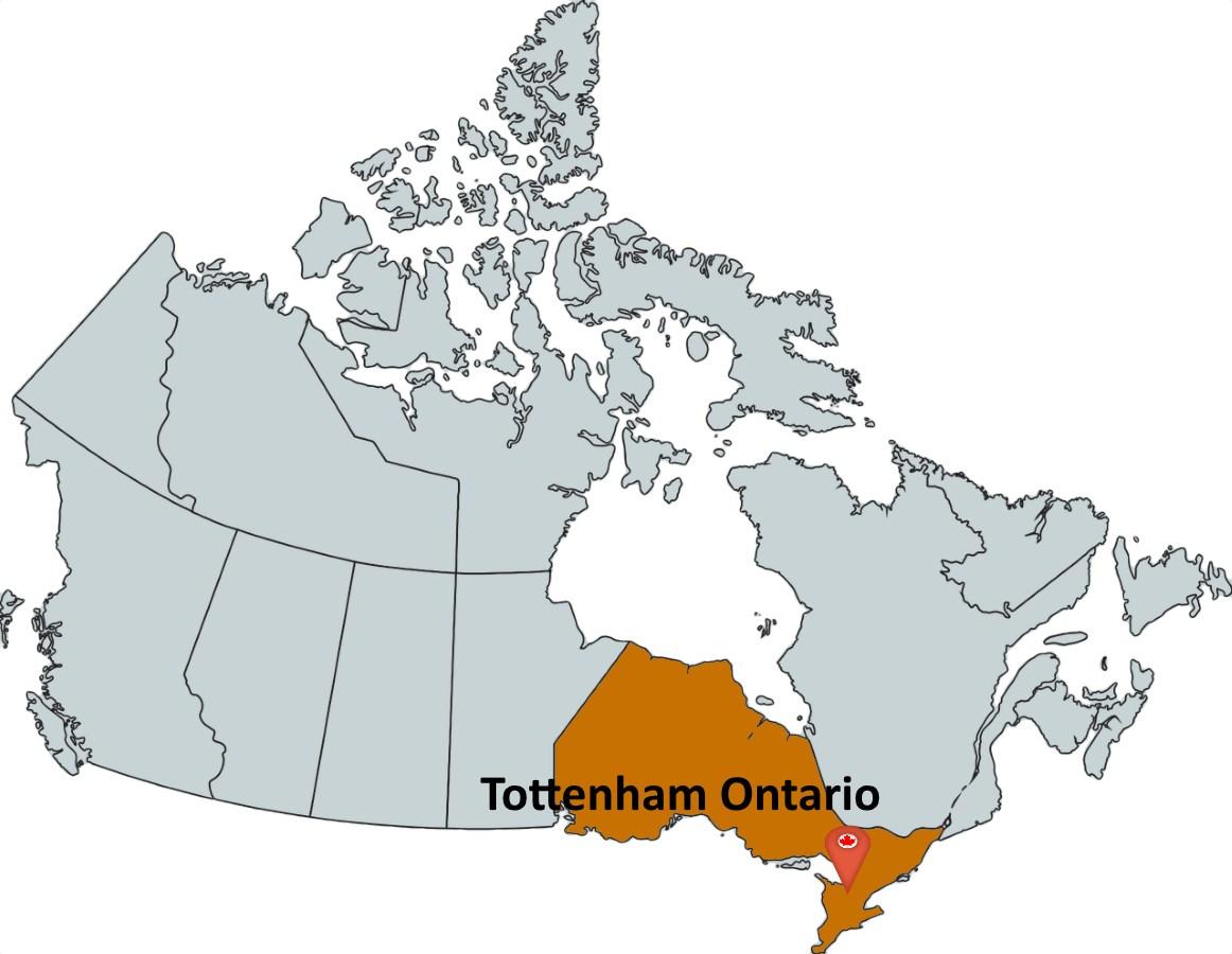 Map Of Tottenham Ontario Canada Where is Tottenham Ontario?   MapTrove