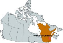 Where is Warwick Quebec?