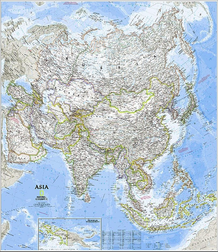 How are Asian borders defined?