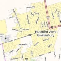 Map Of Bradford Ontario Canada Bradford Ontario Map