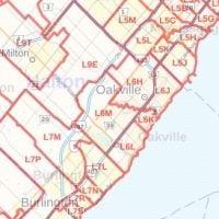 Oakville Postal Code Map