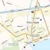 Port Hope Canada Map Port Hope Map, Ontario