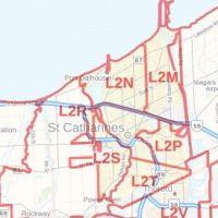 St Catharines Postal Code Map