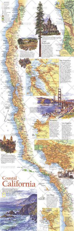 Coastal California Published 1993 Map