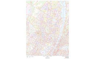 Bergen County ZIP Code Map, New Jersey
