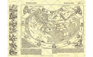 Chronicon Nurembergense 1493 Map - Published 1893