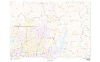 Collin County ZIP Code Map, Texas