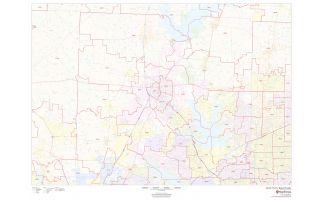 Denton County ZIP Code Map, Texas