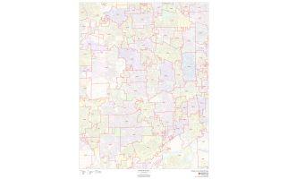 Dupage County ZIP Code Map, Illinois