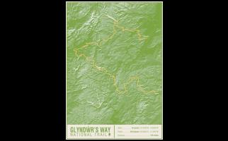 Glyndwr's Way National Trail Map Print