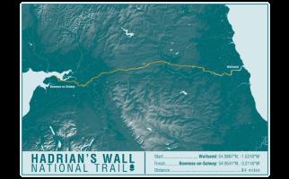 Hadrian's Wall Path National Trail Map Print