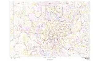Hamilton County ZIP Code Map, Ohio