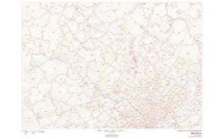 Montgomery County ZIP Code Map, Pennsylvania