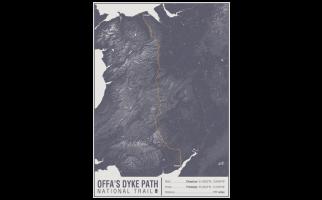 Offa's Dyke Path National Trail Map Print