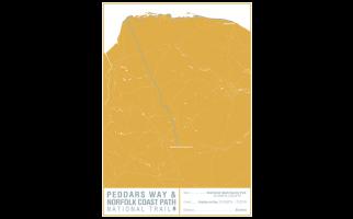 Peddars Way and Norfolk Coast Path National Trail Map Print