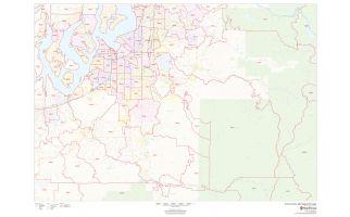 Pierce County ZIP Code Map, Washington