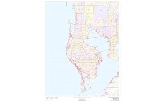 Pinellas County ZIP Code Map, Florida
