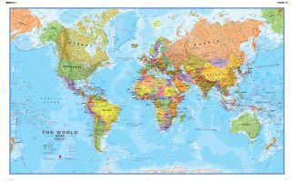 Political World Wall Map