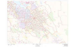 San José Zip Codes Map, California ZIP Codes