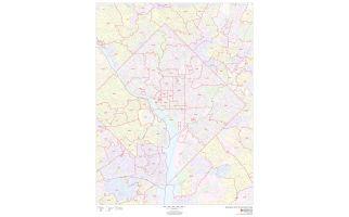 Washington Metropolitan Area ZIP Codes Map