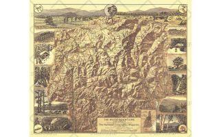 White Mountains of New Hampshire  -  Published 1937