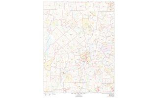 Worcester County ZIP Code Map, Massachusetts