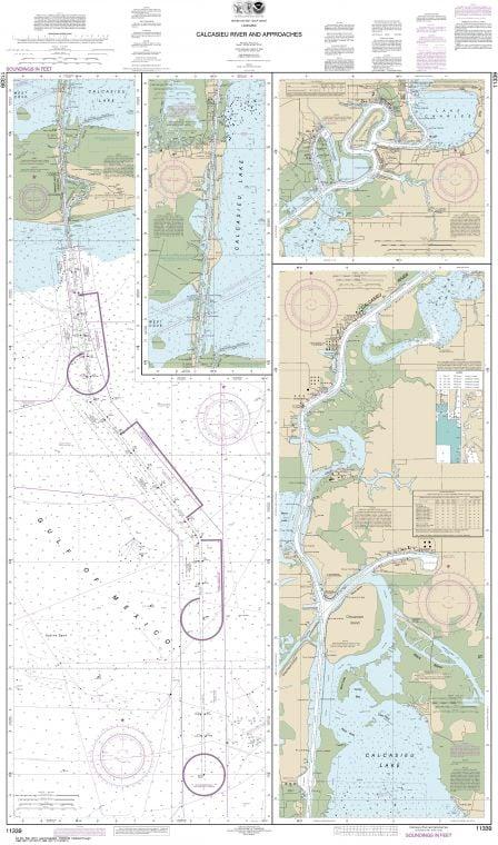 Noaa Chart 11339 Calcasieu River And Approaches