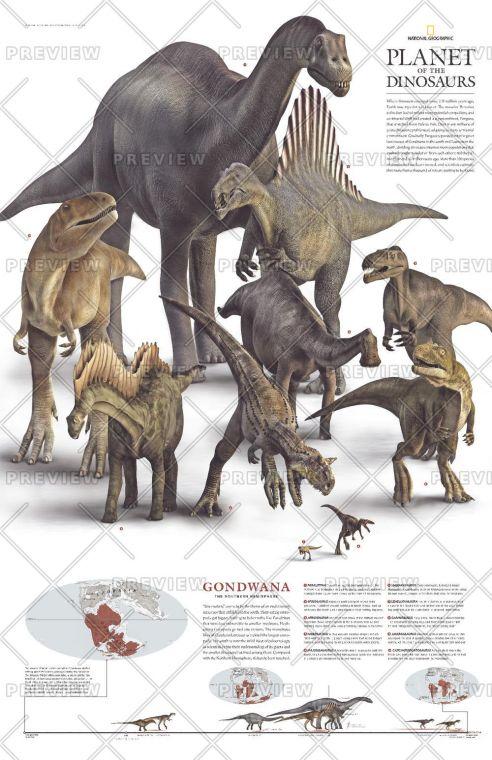 Planet Of The Dinosaurs Gondwana Published 2007 Map