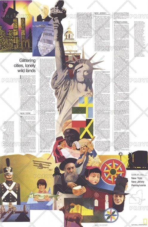 Close Up Usa Northeast Theme Published 1978 Map