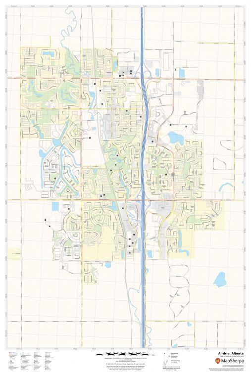 Airdrie Alberta Map