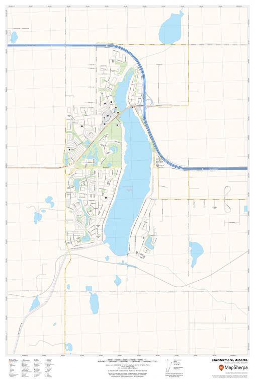 Chestermere Alberta Map