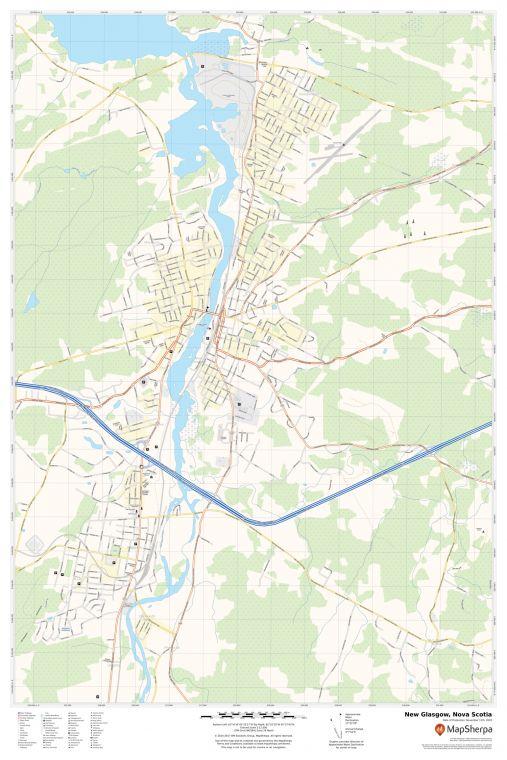 New Glasgow Nova Scotia Map