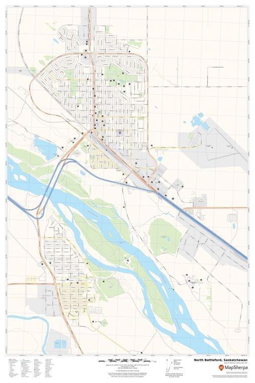 North Battleford Saskatchewan Map