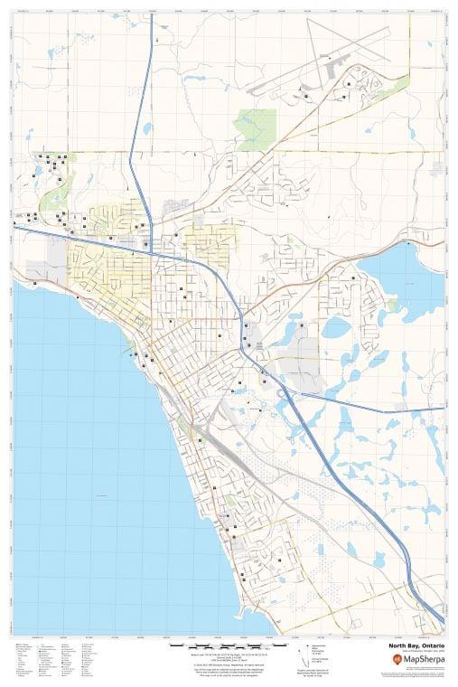 North Bay Ontario Map