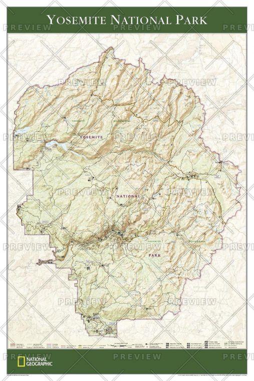 Yosemite National Park Published 2006 Map