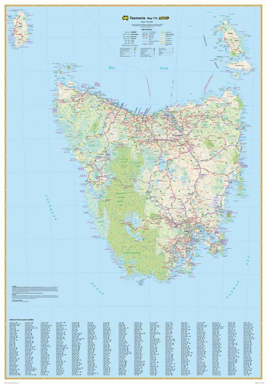 Tasmania State Wall Map