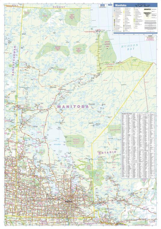 Manitoba Wall Map Large
