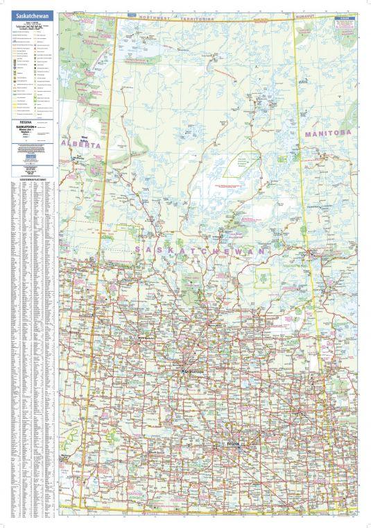 Saskatchewan Wall Map