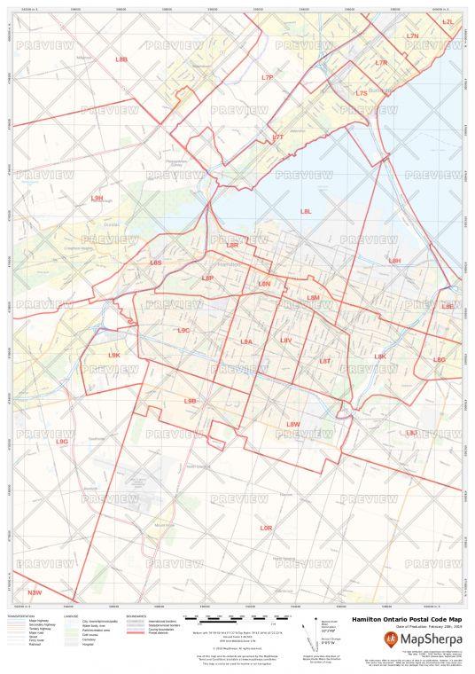 Hamilton Ontario Postal Code Map
