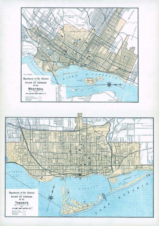 Montreal Toronto 1906 Map