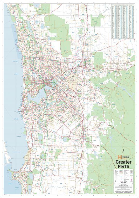 Perth Australia Regional Supermap