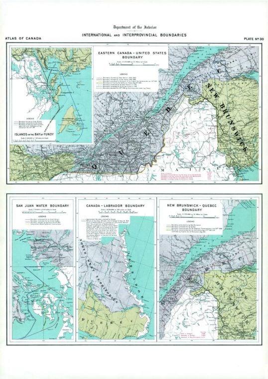 Boundaries Of Eastern Canada San Juan Water Boundary 1906 Map