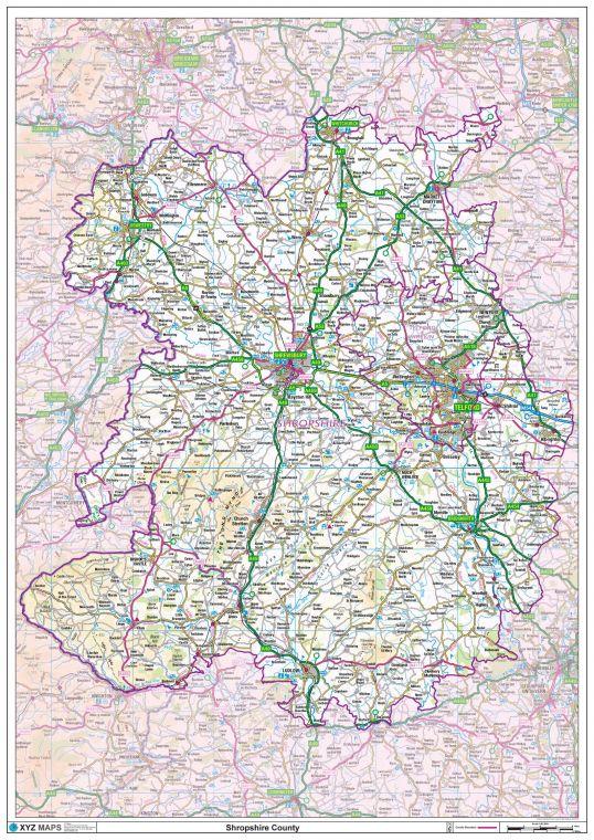 Shropshire County Map